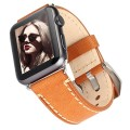 Apple Watch Band, Tirnga® Crazy Horse Genuine Leather Band [Handmade Vintage] Style Strap [With Adapters] for Iwatch 42mm- Light Brown