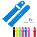 Apple Watch Band, KOMEI Replacement Silicone Gel Strap Wrist Band iWatch Strap for Apple Watch / Watch Sport / 42mm Apple Watch Models, Blue (Not Fit 38mm version 2015)