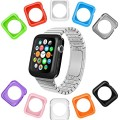 Apple Watch Case by La Zuzzi, 10 Soft Covers, 38mm, for Apple Sport, Apple Watch & Edition, Anti Scratch Apple Watch Protection Cover, Match Colors with Your IPhone Case, New in Apple Watch Accessories!