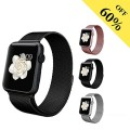 BRG Magnetic Closure Mesh Loop Milanese Stainless Steel Bracelet Strap for Apple Iwatch Sport Edition, 42mm, Black