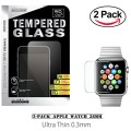 38mm Apple Watch Tempered Glass, (2-Pack) iMacket ® Ultra Clear Tempered Glass Screen Protector for iWatch Apple Watch 38mm