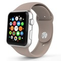 Apple Watch Band, MoKo Soft Silicone Replacement Sport Band for 42mm Apple Watch Models, WALNUT (3 Pieces of Bands Included for 2 Lengths, Not Fit 38mm version 2015)