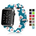 Apple Watch Band, Fintie (38mm) Premium Leather Strap Wrist Band Replacement with Stainless Metal Clasp for Apple Watch 38mm All Models, Floral Blue
