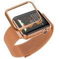 Apple Watch Band With Case,Bandmax Milanese Loop Rose Gold Plated Bracelet Strap For Apple Watch