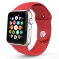 Apple Watch Band, MoKo Soft Silicone Fitness Replacement Sport Band for 42mm Apple Watch All Models, RED (3 Pieces of Bands Included for 2 Lengths, Not Fit Apple Watch 38mm version 2015)