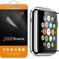 Apple Watch 42mm Tempered Glass Screen Protector, Supershieldz® 9H Hardness Anti-Scratch, Anti-Fingerprint, Bubble Free – Retail Packaging