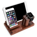 Apple Watch Stand, Aerb Rosewood Charge Dock Holder for Apple Watch & Docking Station Cradle Bracket for iPod iPhone iPad & Other Phones Tablets