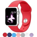 Apple Watch Band 42mm, Top4cus Soft Silicone Replacement Sport Strap iWatch Band for Apple Watch 42mm Model (42mm S/m Red)