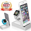 Basecamp Apple Watch Charger Dock Reduces Clutter, Dimmable Nightlight, 3 USB Ports, iWatch Charging Stand