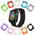 Apple Watch Case by La Zuzzi, 10 Soft Covers, 42mm, for Apple Watch Sport, Apple Watch & Edition, Anti Scratch Protection Cover, Match Colors With Your iPhone Case, New in Apple Watch Accessories!