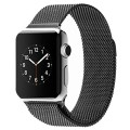 Ottertooth Apple Watch Band, Milanese Loop With Unique Magnet Lock, Stainless Steel Bracelet Strap, For iWatch Sport, Edition and All Models, 42mm Black