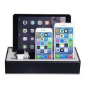 Apple Watch Stand & Iphone Ipad Charging Station Multiple,iphone Ipad Charging Dock,smartphone Desk Charging Station,wowo Black Leatherette Apple Watch Charging Stand Cradle Holder( the power supply and usb wires were not included)