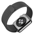 Apple Watch Band, Maxboost Plexus 42mm Milanese Loop Stainless Steel Mesh Bracelet Strap for Apple Watch All Models (Magnetic Closure, No Buckle Needed) – Space Gray