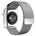Apple Watch Band, MoKo Milanese Loop Stainless Steel Bracelet Smart Watch Strap for Apple Watch 38mm All Models with Unique Magnet Lock, No Buckle Needed – SILVER (Not Fit iWatch 42mm Version 2015)