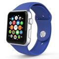Apple Watch Band, HuanlongTM New Soft Silicone Sport Style Replacement Iwatch Strap for Apple Wrist Watch (Royal Blue 38mm M/L)