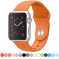 Apple Watch Band – FanTEK Soft Silicone Sport Style Replacement iWatch Strap for Apple Wrist Watch 38mm Models M/L Size (Orange)