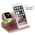Apple Watch Stand, iPhone 6 Stand, BENTOBEN Charging Stand Dock Station Cradle Nightstand for Apple Watch and iPhone with Cable Winder Detachable Construction Anti Slip Foam Cushion – Rose Gold