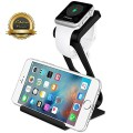 Apple Watch Stand, Aerb 2in1 Aluminum Charging Stand Cradle Dock Station for Apple Watch and iPhone Galaxy Nexus and More