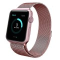 Apple Watch Band,UMTele Milanese Loop Stainless Steel Bracelet Smart Watch Strap with Unique Magnet Lock for Apple Watch Sport Edition 42mm, No Buckle Needed Rose Gold