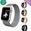 Apple Watch Band 38mm, top4cus Milanese Loop Stainless Steel Bracelet Strap Replacement Wrist iWatch Band with Magnet Lock for 38mm Watch (38mm Silver)