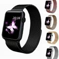 top4cus Apple Watch BandTop4Cus Milanese Loop Stainless Steel Bracelet Strap Replacement Wrist Iwatch Band With Magnet LockBlack