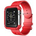 Apple Watch Case, i-Blason Rugged Protective Case with Strap Bands for Apple Watch / Watch Sport / Watch Edition 2015 Release 2015 (38 mm, Red)