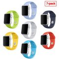 Otmake Apple Watch Band 7Pack Soft Silicone Sport Style Replacement iWatch Strap for Apple Wrist Watch