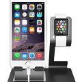 iComboStand Apple Watch Stand and iPhone Cradle Dual 2 in 1 iwatch Dock Station Black