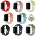 Apple Watch Band-Silicone Sports Style Replacement Fitness Bracelet Strap Wristbands for Apple Watch iWatch Version 1 2016 Series 2 Newest Edition 38mm Models,Men/Women,Small/Large (8PCS(38mm), Small)
