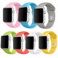 Isenxi Apple Watch Band, 7 Pack Soft Silicone Sport Style Replacement Strap for Apple iwatch Series 1 Series 2 (38mm-set8 small(7-pack))