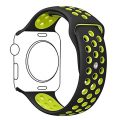 Apple Watch Band, Ocydar Soft Silicone Nike+ Sport Style Replacement iWatch Strap Band for Apple Watch Series 1 Series 2, Apple Watch Nike+, M/L Size – 42MM Black / Volt Yellow