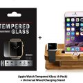 42mm Apple Watch Tempered Glass, (4-Pack + STAND) ProtoCASE Ultra Clear Tempered Glass Screen Protector and Stand / Dock for iWatch Apple Watch Series 1 and Series 2 and iPhone