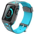 Apple Watch Case, i-Blason Unity Series Premium Hybrid Protective Bumper Protective Case for Apple Watch 38 mm 2015 Release [Not Compatible with 42 mm] (Blue)
