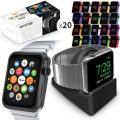 Orzly ULTIMATE PACK for Apple Watch (38 MM) – Gift Pack Includes Orzly Compact Stand & Multi-Pack of 20 Assorted Colour Orzly FacePlates