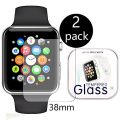 [2-Pack] Apple Watch 38mm Smart Watch Screen Protector, HoPerain [Tempered Glass] 9H Hardness, Anti-Scratch, Anti-Fingerprint, Bubble Free
