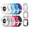 Apple Watch Sport Band 38mm, UMTELE Soft Silicone Replacement iWatch Bands Sport Strap with Buckle Clasp for Apple Watch Sport, Series 2, Series 1, 8 Pack
