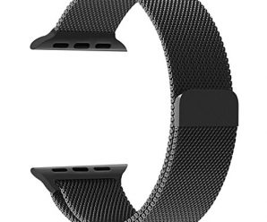 Apple Watch Band, Penom Fully Magnetic Closure Clasp Stainless Steel Bracelet Strap for smart watch Sport & Edition 38mm – Black