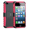 Case For iPhone SE,Armor Heavy Duty Rugged Dual Layer Hybrid Shockproof Case Protective Cover for Apple iPhone 5 5S SE with Built-in Kickstand (Red)