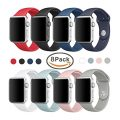 Band for Apple Watch 42mm, Sivir Soft Silicone Sport Strap Replacement Bracelet Wristband for Apple Watch Series 2, Series 1, Sport, Edition, S/M Size (8 Pack)