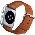 Apple Watch Band 42mm Genuine Leather – Brown iWatch Bands 42 mm for Men & Women, compatible with any Series 1, Series 2, Series 3, Nike and Sport Edition Apple Watch by Innoavations