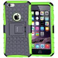 Case for iPhone 6, Armor Heavy Duty Protection Rugged Dual Layer Hybrid Shockproof Case Protective Cover for Apple iPhone 6 6S 4.7 Inch with Built-in Kickstand (Green)
