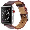 Marge Plus Apple Watch Band 42mm, Alligator Texture Leather Straps iWatch Band for Apple Watch Series 3 Series 2 Series 1 Sport Edition – Dark Brown