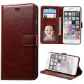 iPhone 6S Plus Case Next-shine [Layered Dandy] [Brown] – [Card Slot] [Flip] [Slim Fit] [Wallet] – For Apple iPhone 6 Plus and iPhone 6S Plus 5.5″ Devices Not Waterproof