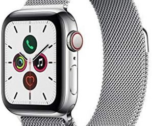 Apple Watch Series 5 (GPS + Cellular, 40mm) – ​ Stainless Steel Case with Milanese Loop