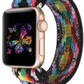 YOSWAN Stretchy Loop Strap Compatible for Apple Watch Band 40mm 38mm 44mm 42mm iWatch Series 5/4/3/2/1 Stretch Elastics Wristbelt (Aztec Style Colorful, 38mm/40mm)