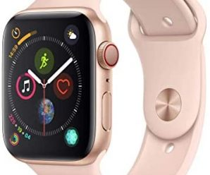 Apple Watch Series 4 (GPS + Cellular, 44mm) – Gold Aluminum Case with Pink Sand Sport Band