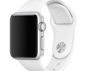 Yearscase 38MM Soft Silicone Sport Replacement Band for Apple Watch Series 1 2, S/M Size (White)