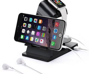 Apple Watch Stand,Itian Charging Station/Dock/Cradle A16 for Apple Watch,iPhone,iPad(Black)