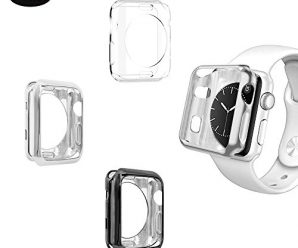 [3-PACK] Apple Watch 38mm Series 2 Case, iHYQ Ultra Slim Plated TPU Flexible Lightweight Case Protective Bumper Cover for Apple iWatch Series 1, Series 2, pack of 3 (38mm Clear+Black+Silver)