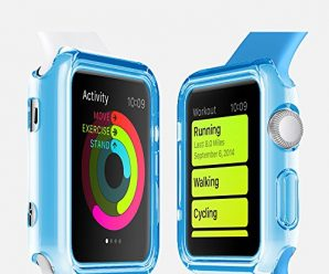 Hovisi Super Thin Multicolor TPU Protective Bumper for Apple Watch Case 38mm (Azure)